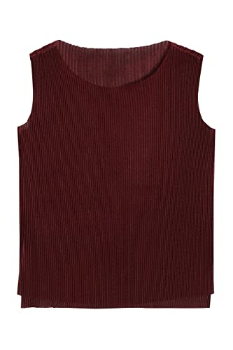 next Mujer Top Camiseta Blusa Plisado Texturizado Formal Cuello Redondo
