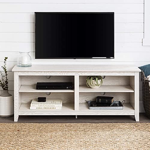 Home Accent Furnishings Lucas 58 Inch Television Stand in White Wash