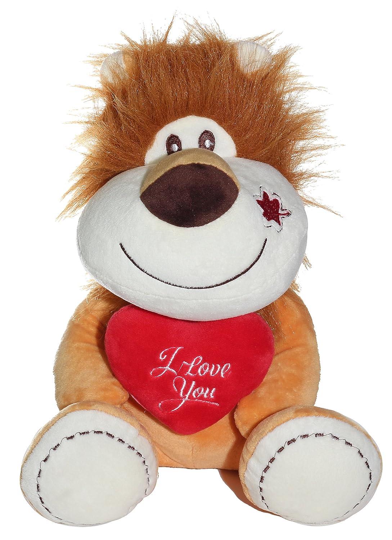 Lion Animal Plush Doll Nixeus Technologies Inc V9966-19 lion Calplush Love Pals 2 19 Animal Plush