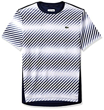091e980a Lacoste Men's Sport Short Sleeve Ultra Dry Pique T-Shirt W/Print at Front    Amazon.com