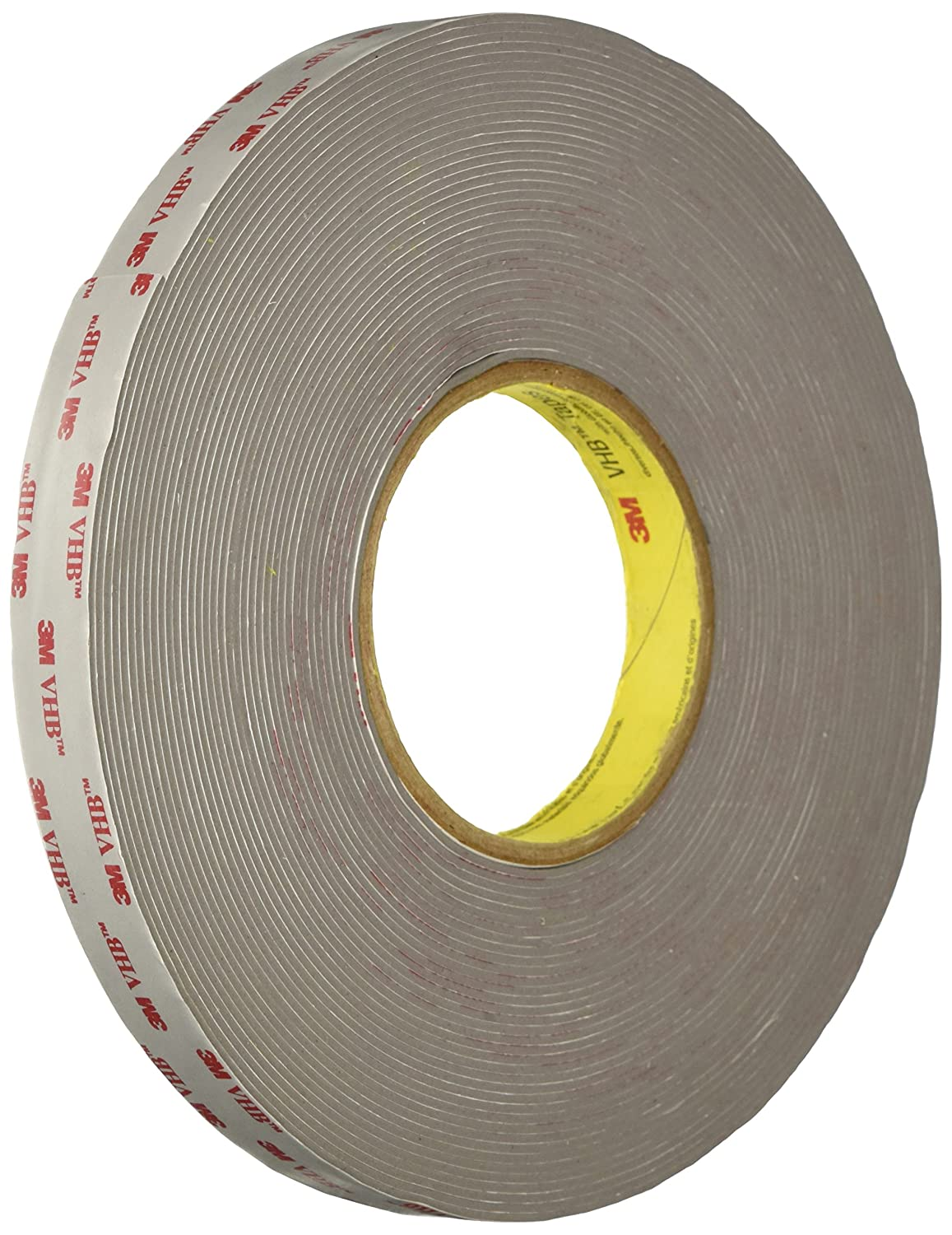 3M VHB Tape RP62 in Gray - 0.5 in. x 15 ft. Double Sided Tape Roll with Conformable Foam Core. Adhesive Tapes