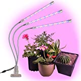 Brite Labs LED Grow Lights for Indoor Plants and Seedlings, Triple Head Plant Growing Lamps with 60 Full Spectrum Bulbs…
