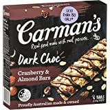 Carman's Muesli Bar Dark Choc, Cranberry & Almond, 6-Pack (210g)