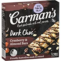 Carman's Muesli Bar Dark Choc, Cranberry & Almond, 6-Pack (210g)