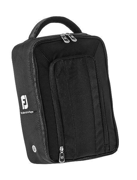 Golf Shoe Bag >> Amazon Com Footjoy Deluxe Golf Shoe Bag Black Nylon Golf