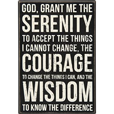 Primitives by Kathy Classic Box Sign, 8 x 12-Inches, Serenity Prayer