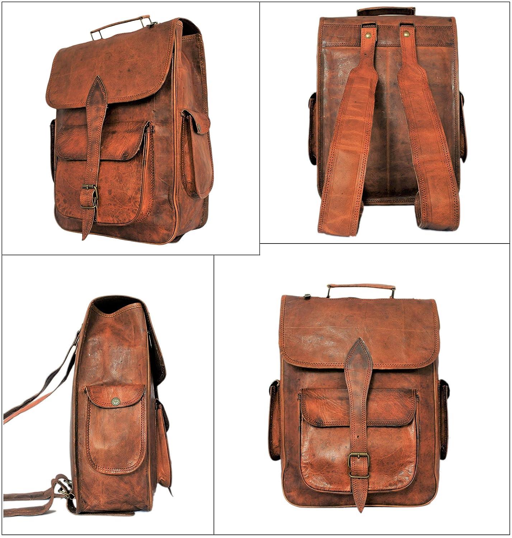684e3685e7 Amazon.com  Handmade Genuine Leather Backpack Laptop Bag for Men Women Gift  for Him Her  RusticTown