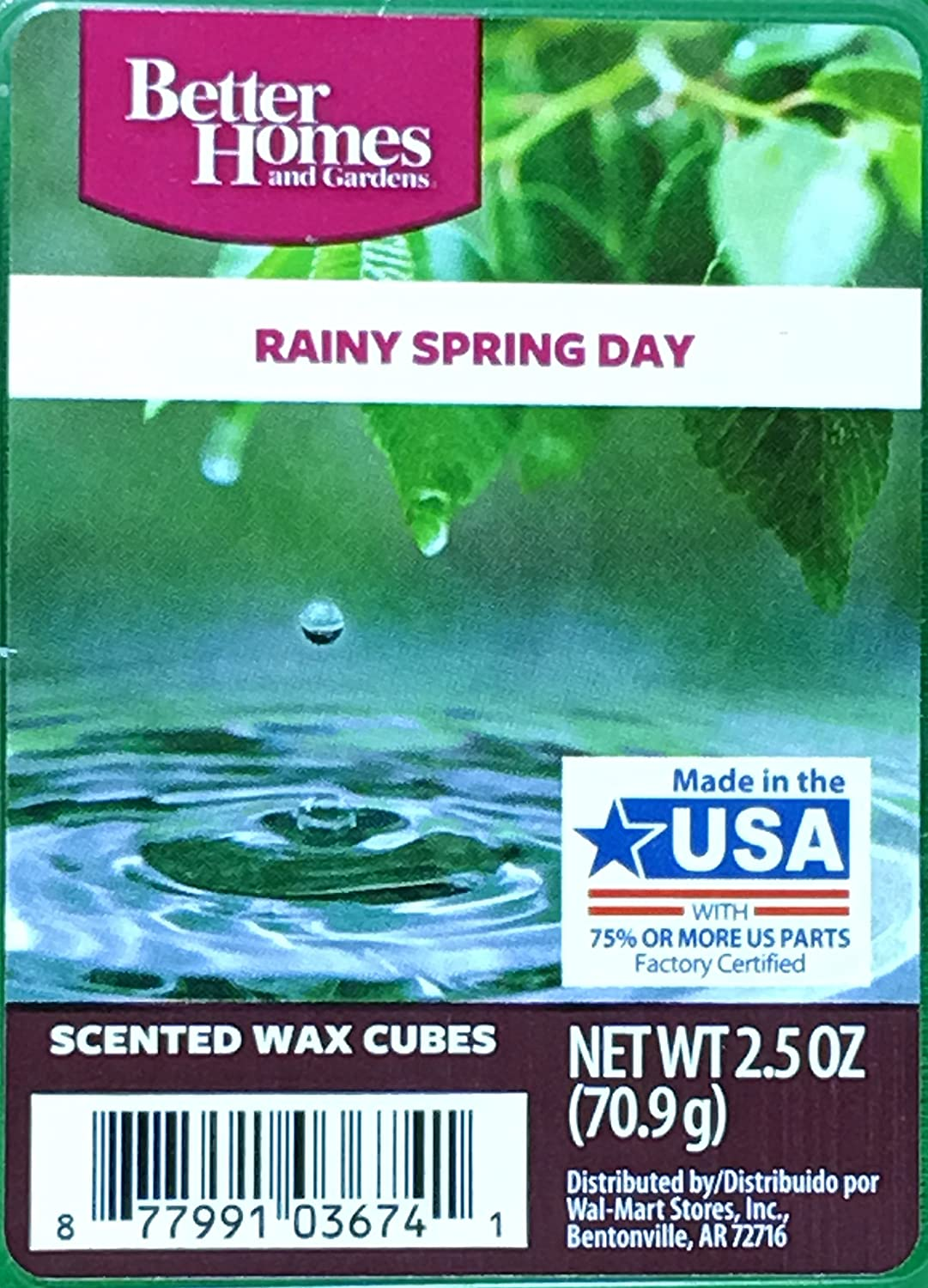 Better Homes and Gardens Rainy Spring Day Wax Cubes, 2.5 oz