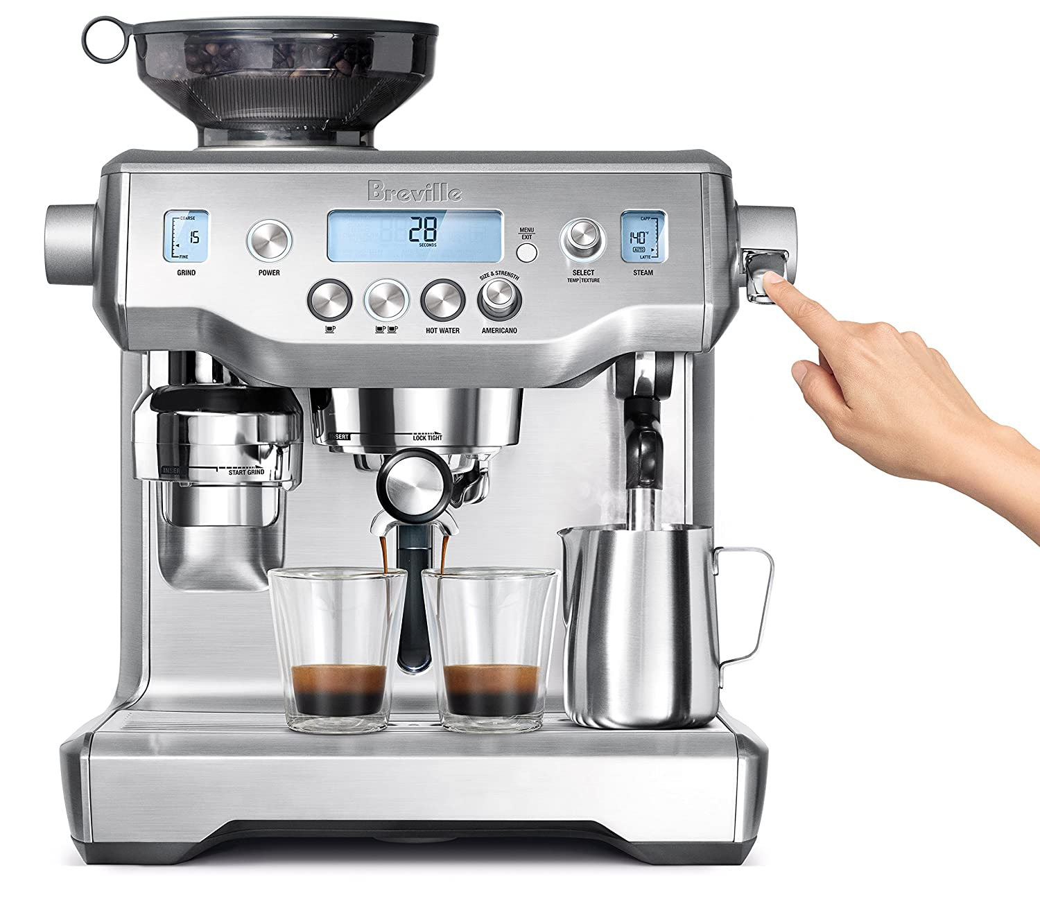 Breville Bes980 Xl Oracle Espresso Machine, Silver by Breville