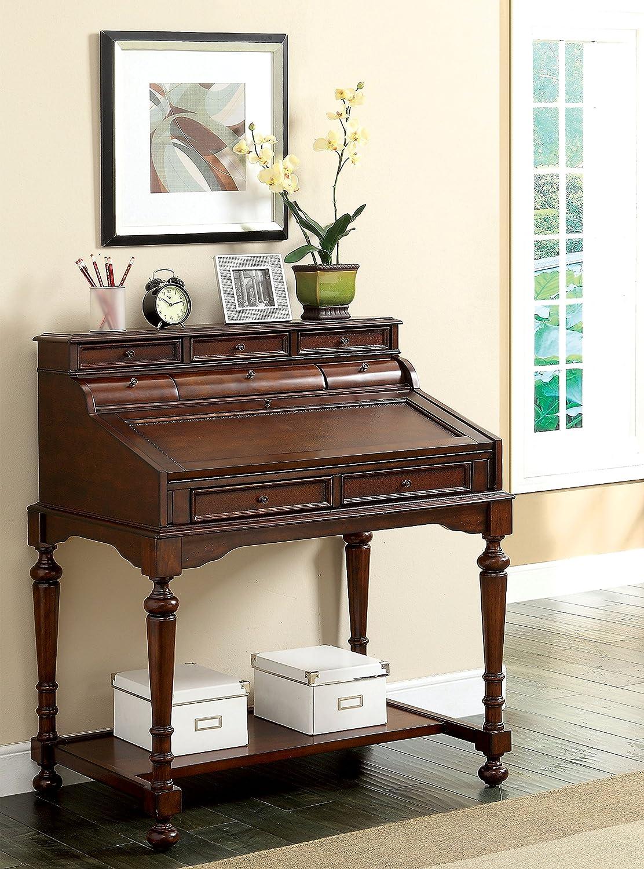 Amazon com furniture of america idf dk6224 elaine traditional secretary desk kitchen dining