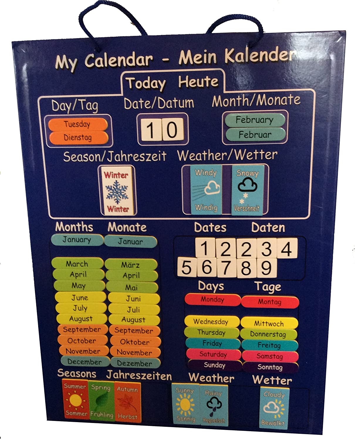 The First And Only Bi Lingual Children S Calendar Educational