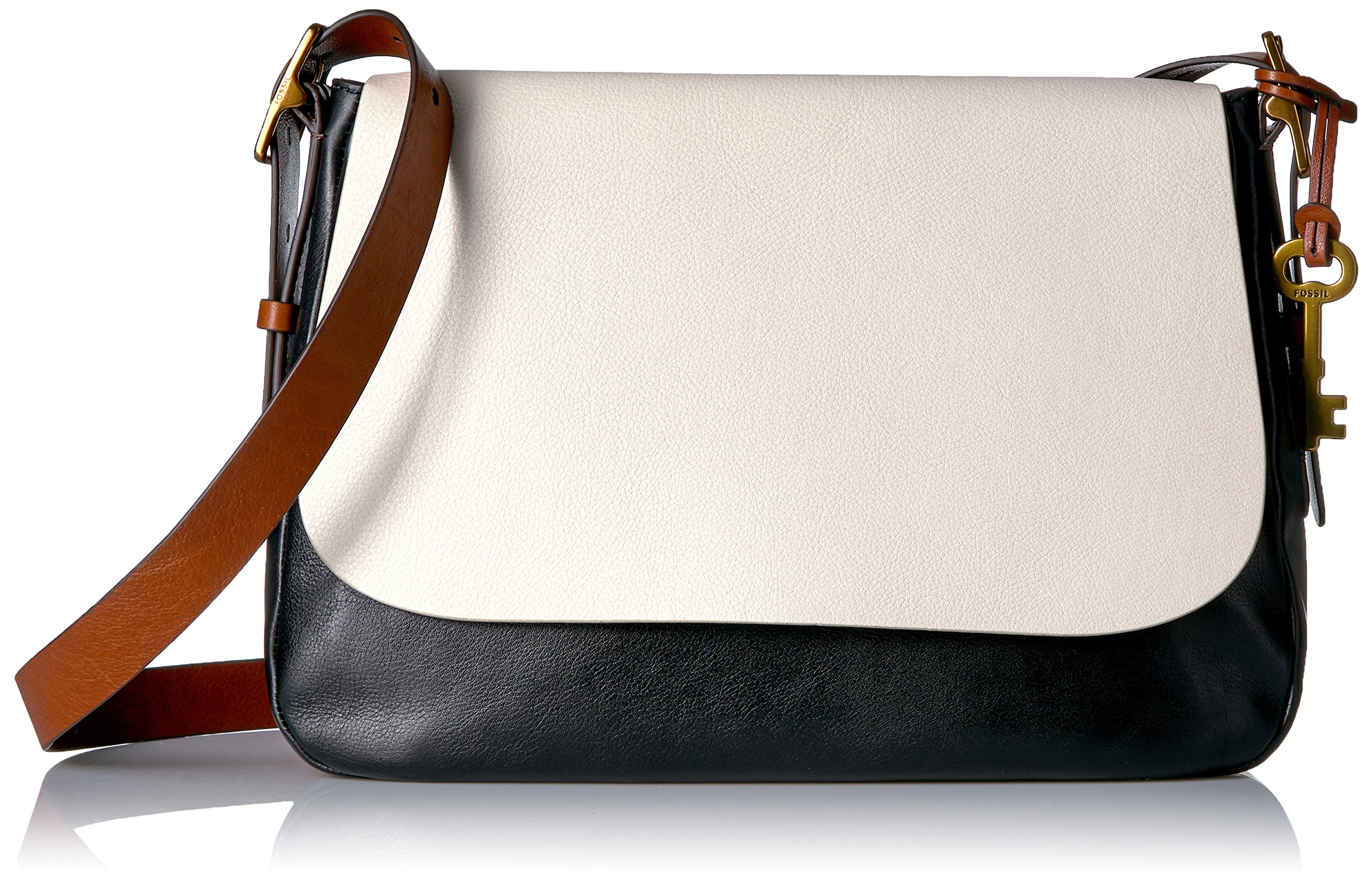 Fossil Harper Large Crossbody, White/Black by Fossil