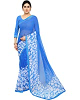Jaanvi Fashion Women's Chiffon Saree