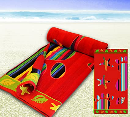 100% algodón gigante Jumbo Tamaño Toallas de playa 90 x 170, algodón, Rojo