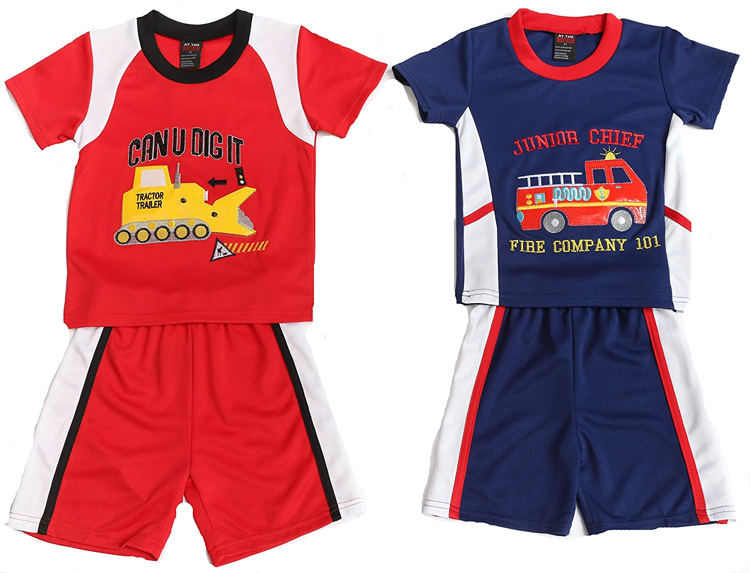 At The Buzzer Two Piece Embroidered Short Set (Pack of 2)