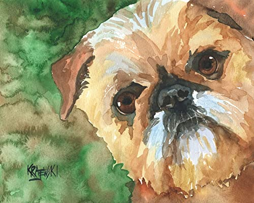 Brussels Griffon Dog 8x10 Art Print Signed by Artist Ron Krajewski