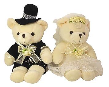 almacen feliz director de novia de alta costura par osos de peluche de la boda del