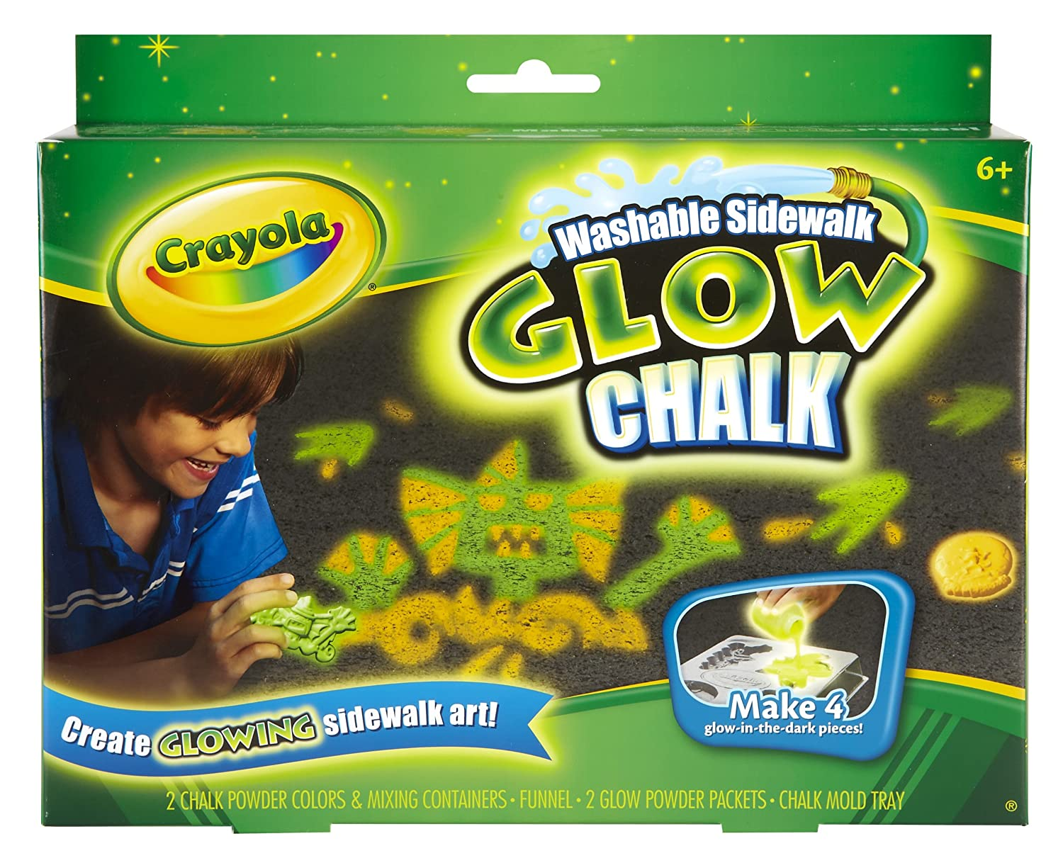 amazoncom crayola glow chalk monster madness toys games