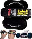 Lifting Grips by GRIP POWER PADS®PRO -The Alternative To Gym Workout Gloves | Maximize Your Workout Potential With Non Slip Grip Pad. Our Professional & ✔PATENTED ✔ Lifting Grips Consider To Be #1 Gym Gloves Alternative. You've Tried The Rest Now Own The BEST! Grips That Fit Your Needs. No More Calluses & Grip Fatigue - Secure Your Grip! Made for Men and Women For Weight Lifting Exercise CrossFit &Workout. (Negro)
