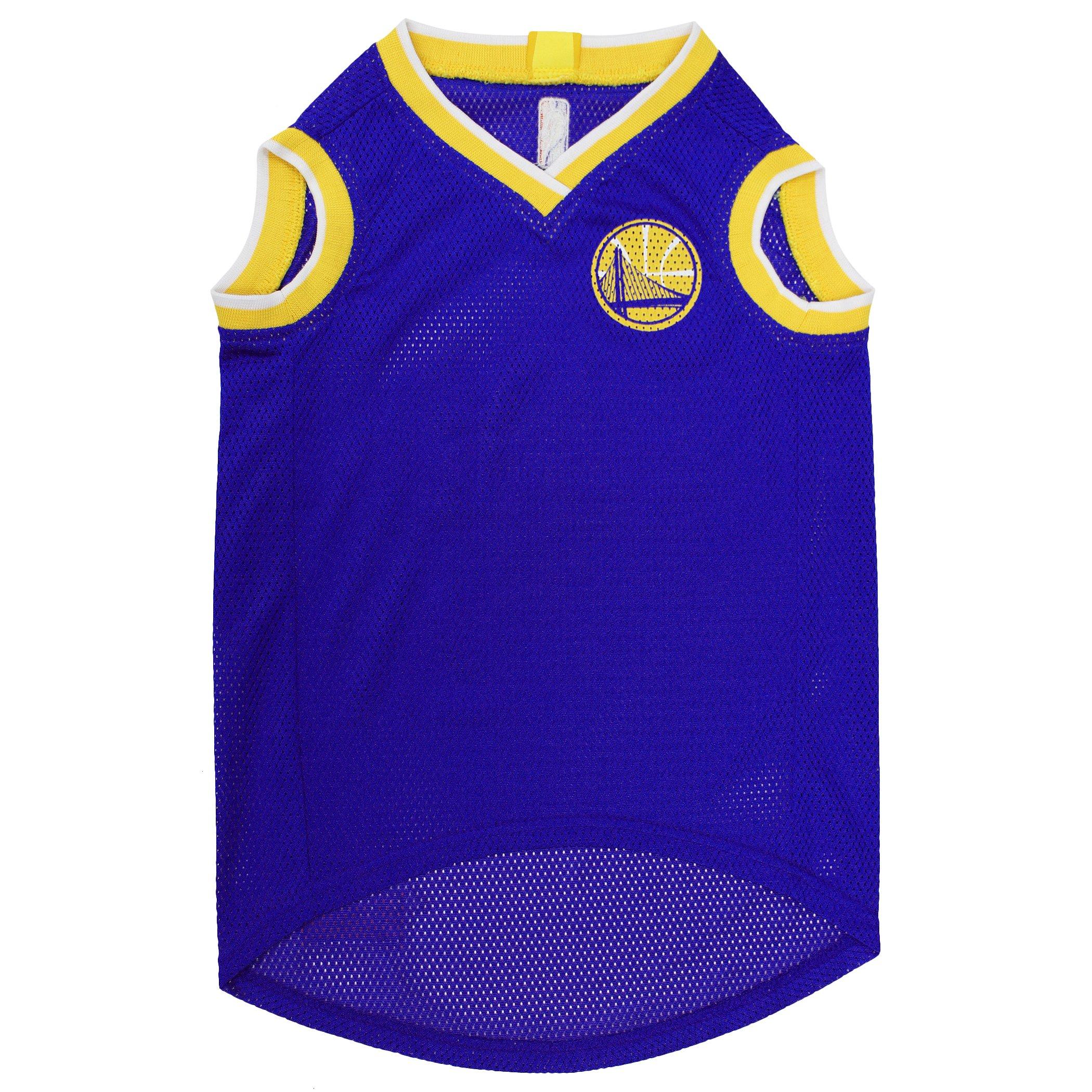 low cost c5a36 53344 Details about NBA GOLDEN STATE WARRIORS DOG Jersey, Medium - Tank Top  Basketball Pet Jersey