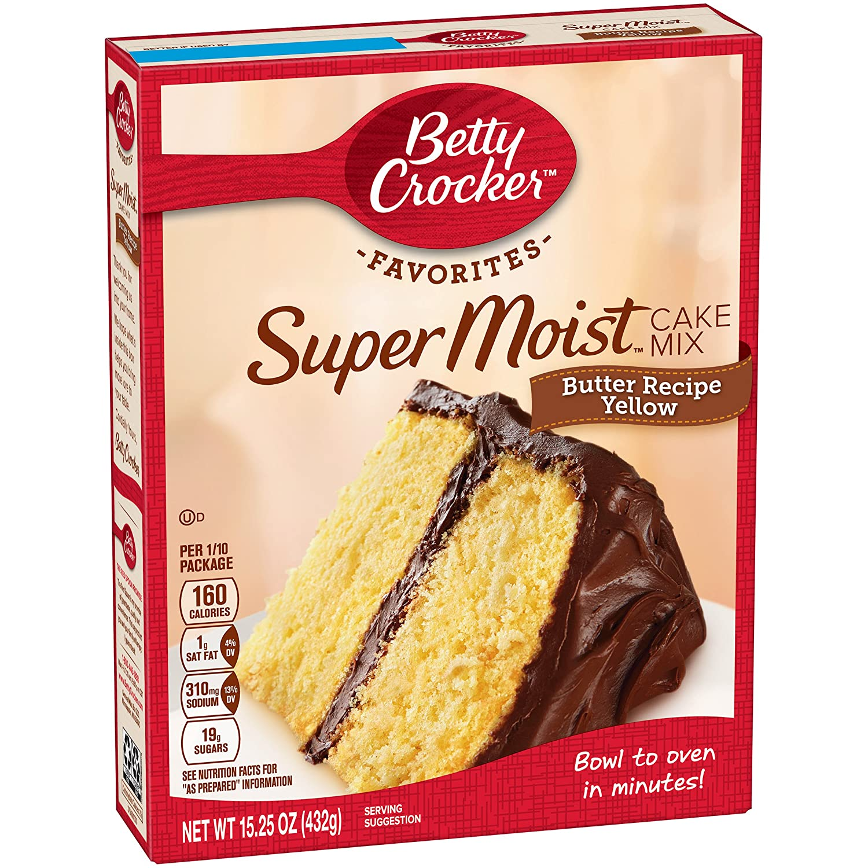 Amazon.com : Betty Crocker Butter Recipe Yellow Cake Mix, 15.25 ...