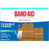Band-Aid Flexible Fabric Adhesive Bandages, Assorted Sizes Value Pack, 80 Bandages