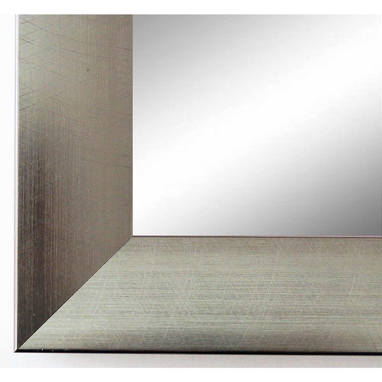 Online Galerie Bingold Spiegel Wandspiegel Badspiegel Flurspiegel Garderobenspiegel - Über 200 Größen - Bergamo Silber 4,0 - Außenmaß des Spiegels 50 x 140 - Wunschmaße auf Anfrage - Antik, Barock