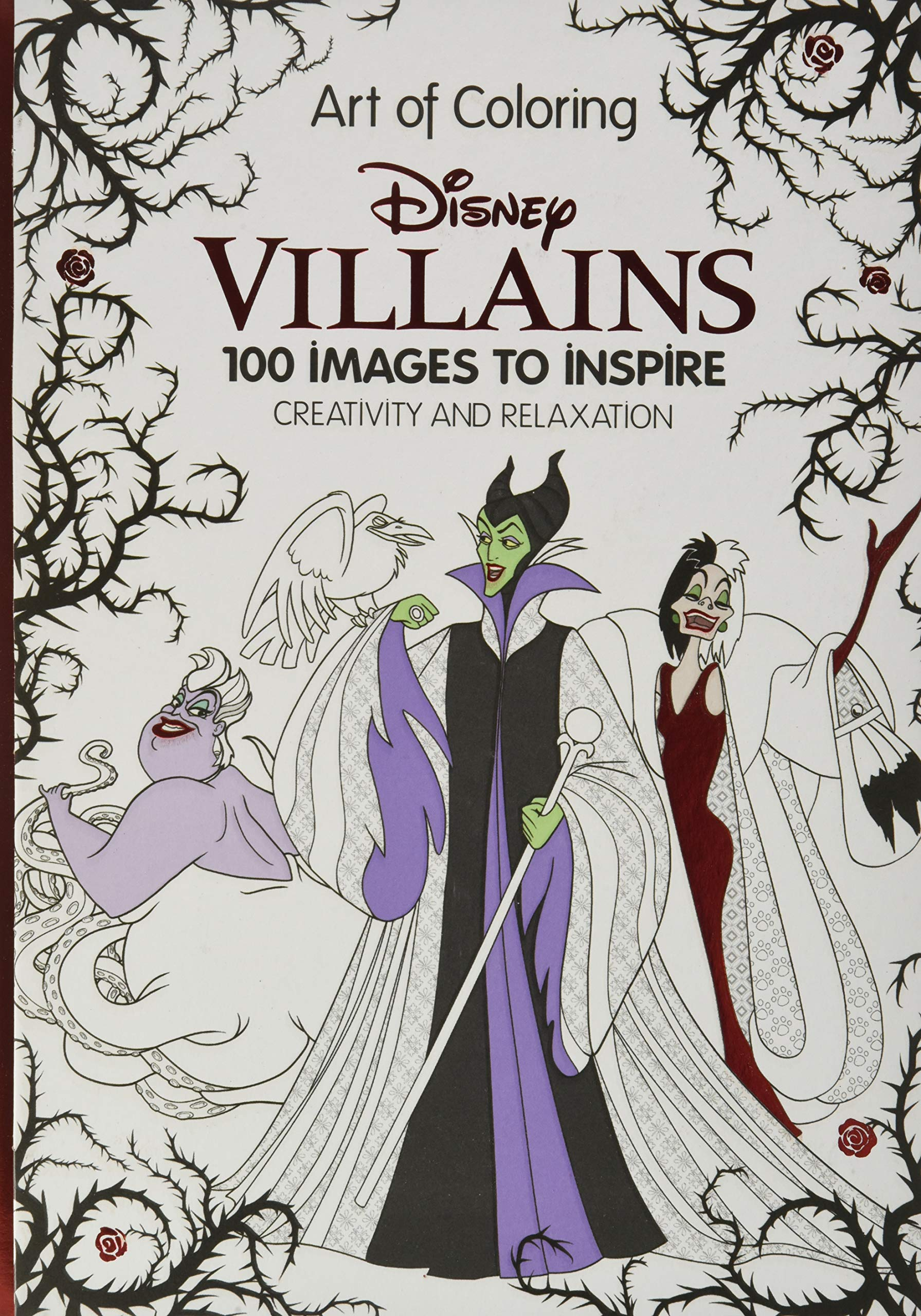 Amazon Com Art Of Coloring Disney Villains 100 Images To Inspire Creativity And Relaxation 9781484780367 Disney Book Group Disney Book Group Books