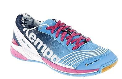 fe99f045d40be Kempa Attack Two, Chaussures de Handball Femme, Multicolore (True  Bleu Pétrole