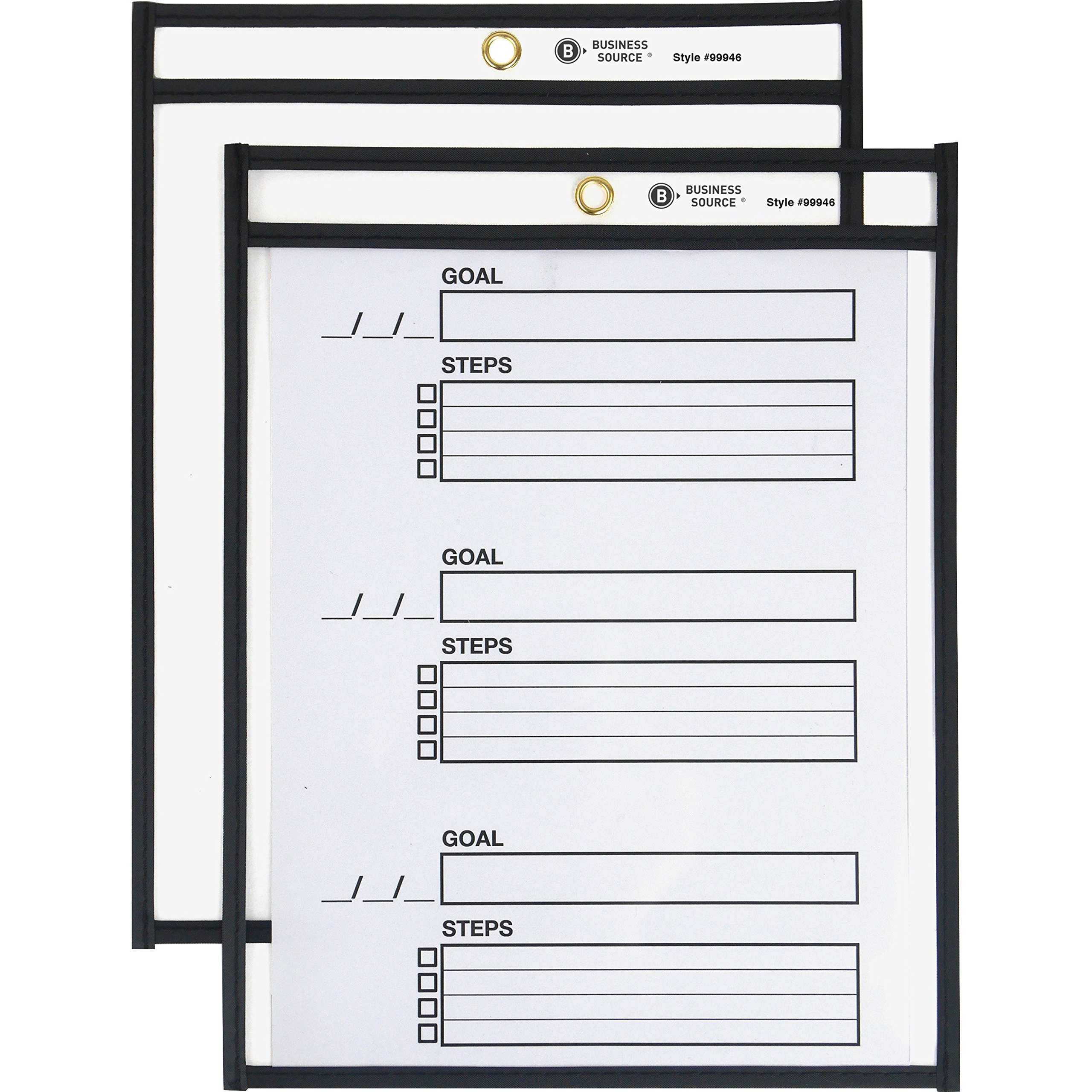 Business Source Heavyweight Shop Seal Ticket Holders, 8-1/2'x11'' (99946)