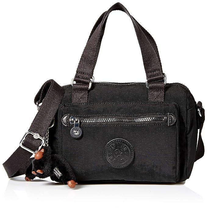 Kipling Lyanne Small Crossbody Bag, Removable, Adjustable Straps, Zip Closure, Black