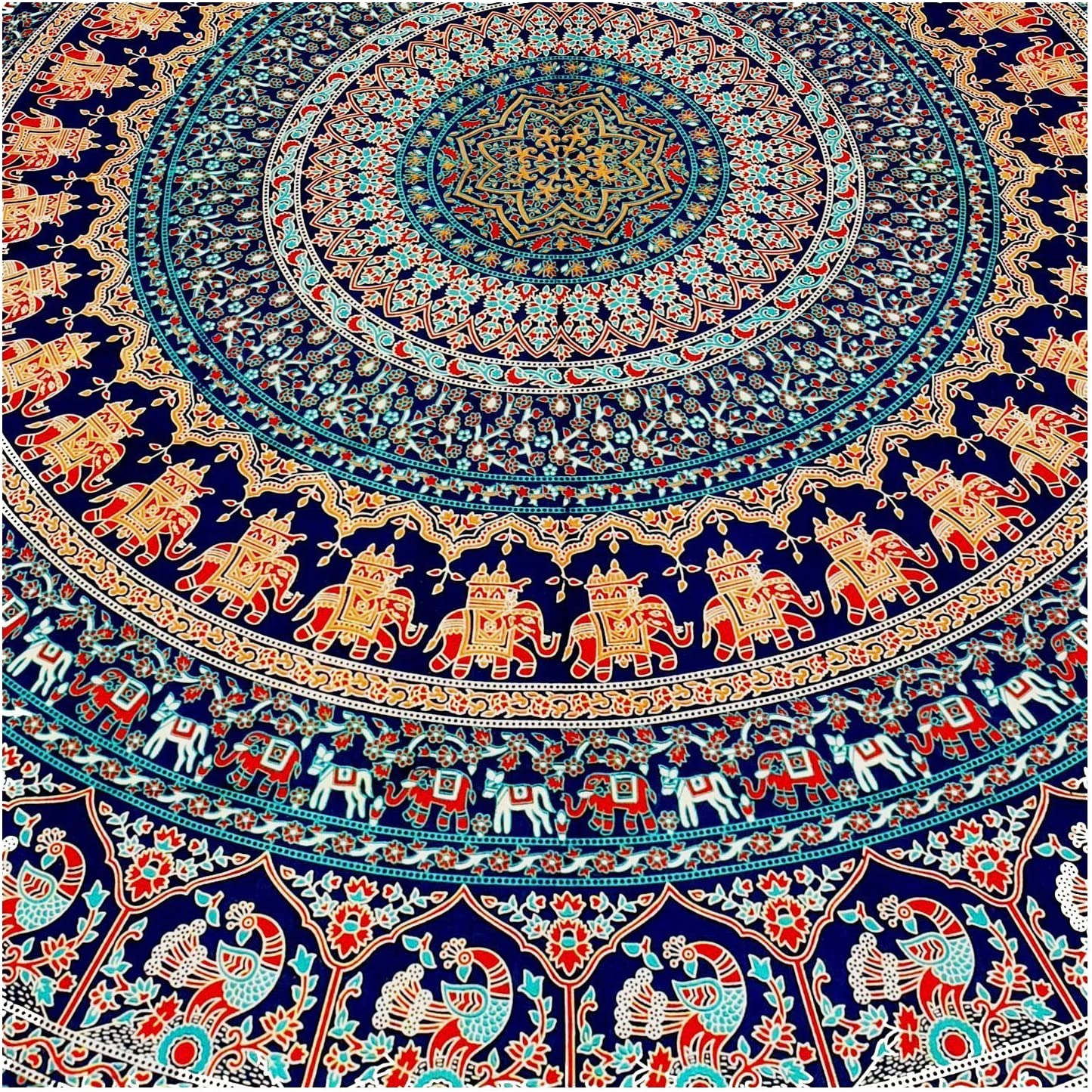 Queen Indian Cotton Mandala Bedspread Wall Hanging Hippie Throw Bohemian Tapstry