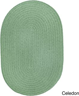 product image for Rhody Rug Venice Indoor/Outdoor Oval Braided Rug (2' x 3') Celadon