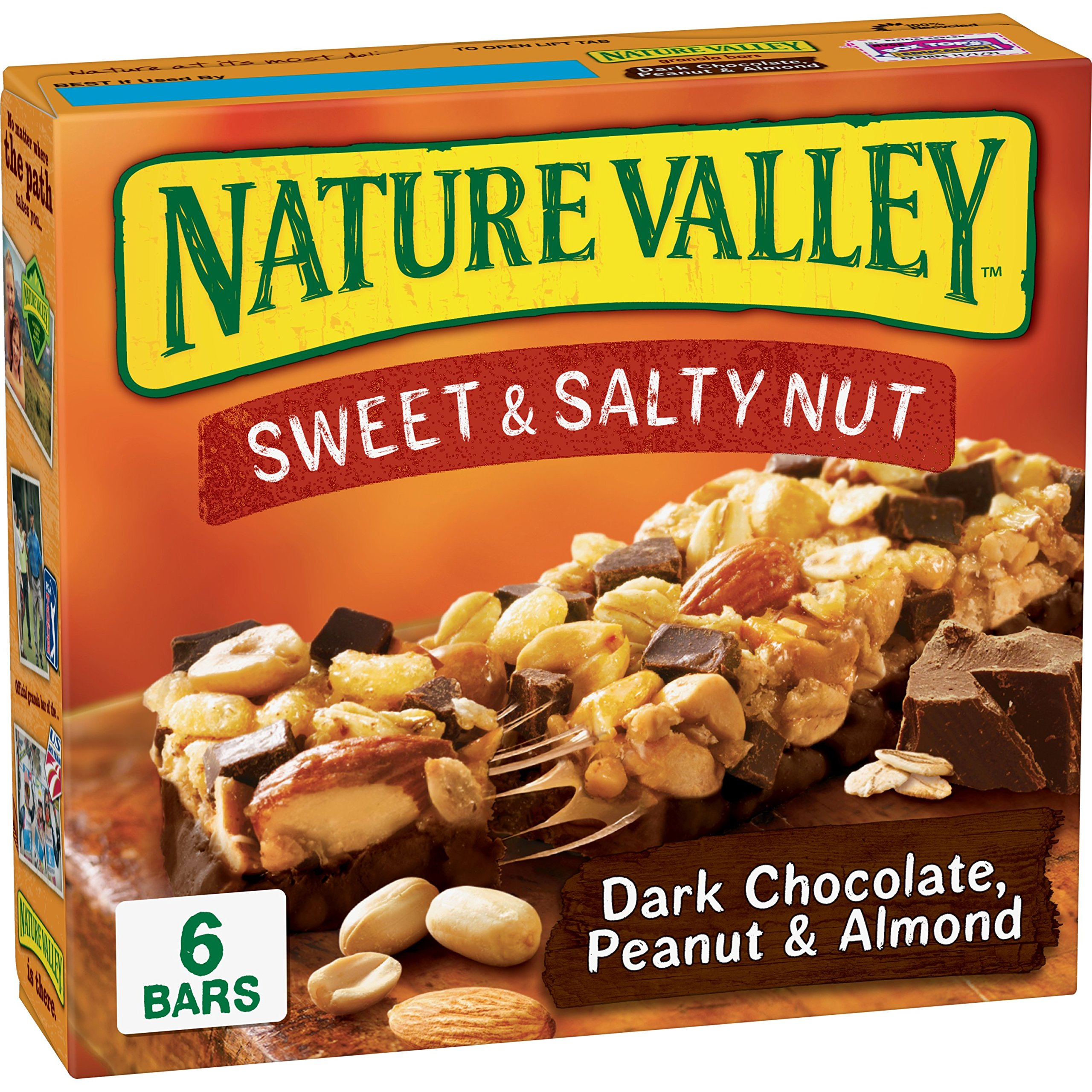 General Mills Nature Valley Sweet and Salty Dark Chocolate Peanut,1.24 oz,6 count