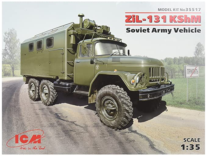 b8af21fbae7690 Buy ICM Models ZiL-131 KShM Soviet Army Vehicle Online at Low Prices in  India - Amazon.in