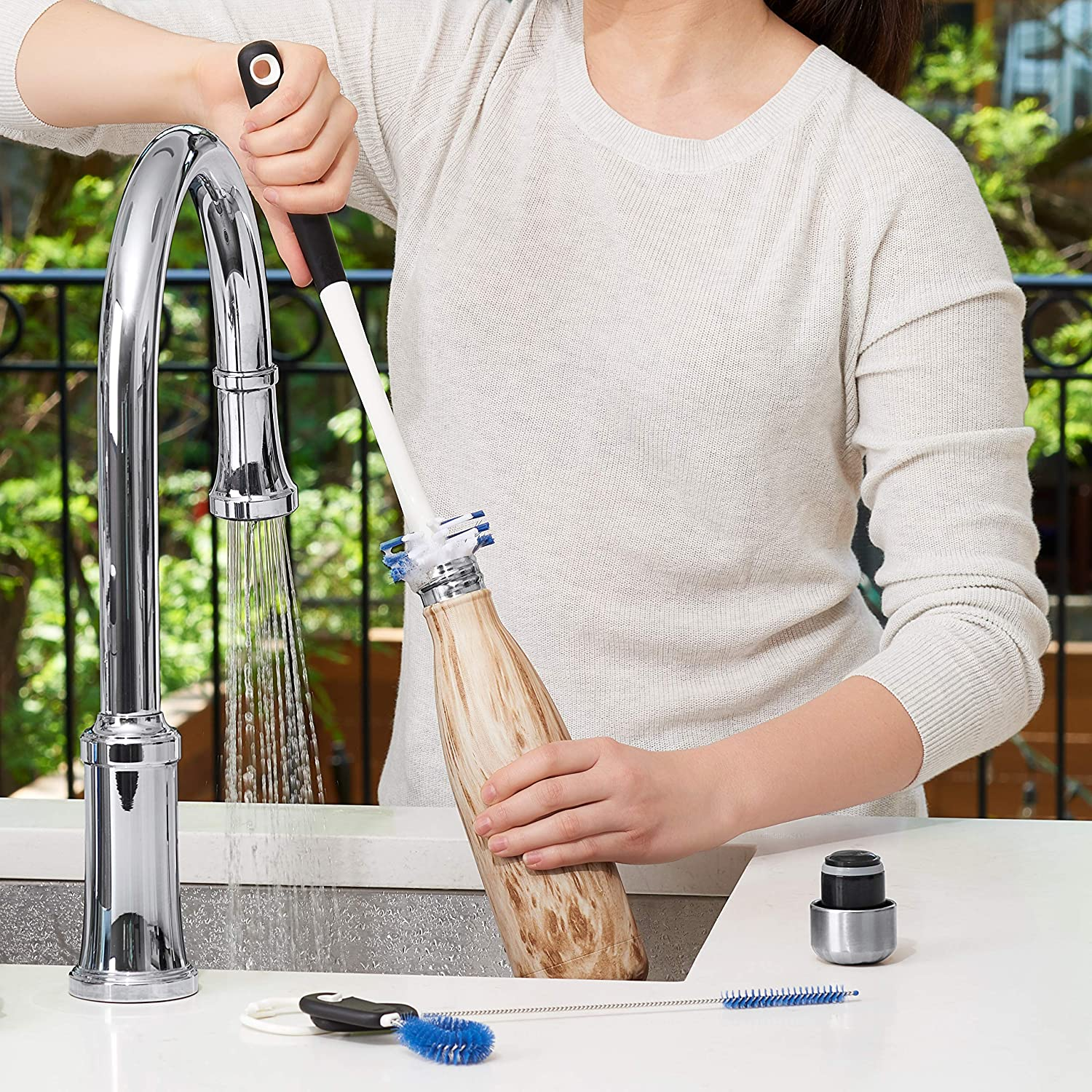 14-Inch Oxo 1329080WH Water Bottle Cleaning Set