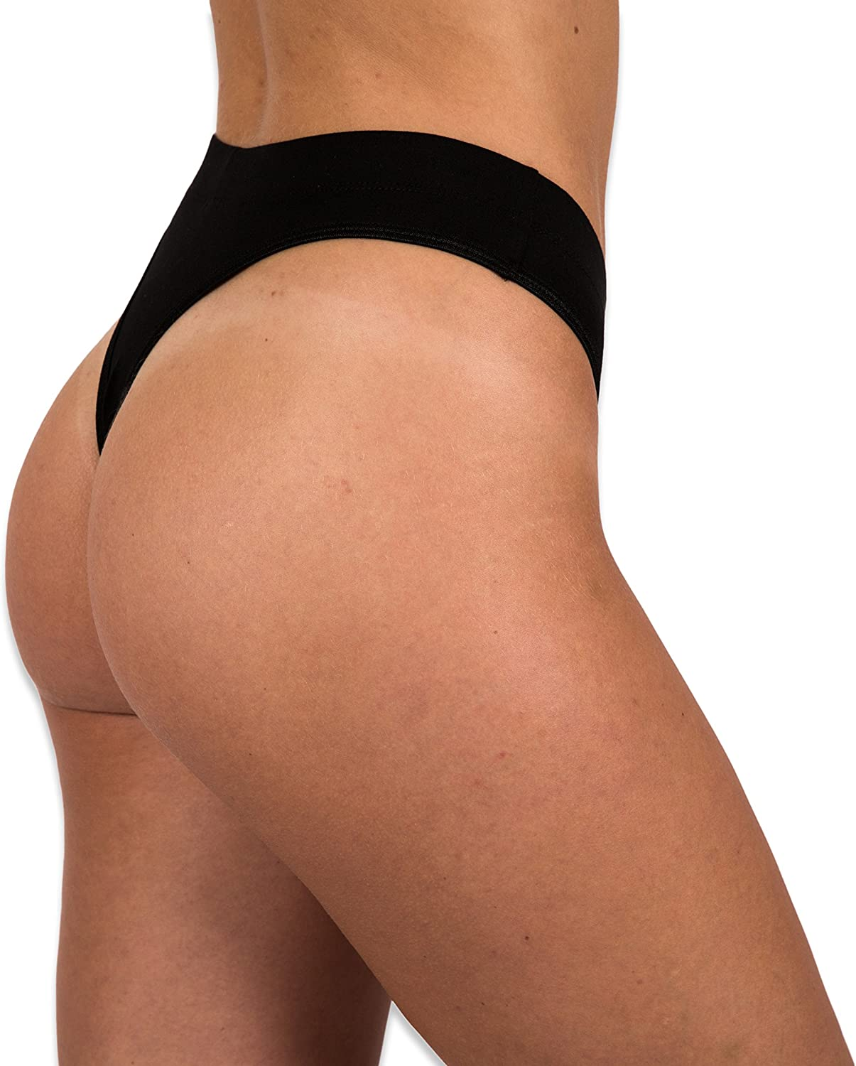 Sexy Basics Women's 6-Pack Active Sport Thong Panties Underwear: Clothing