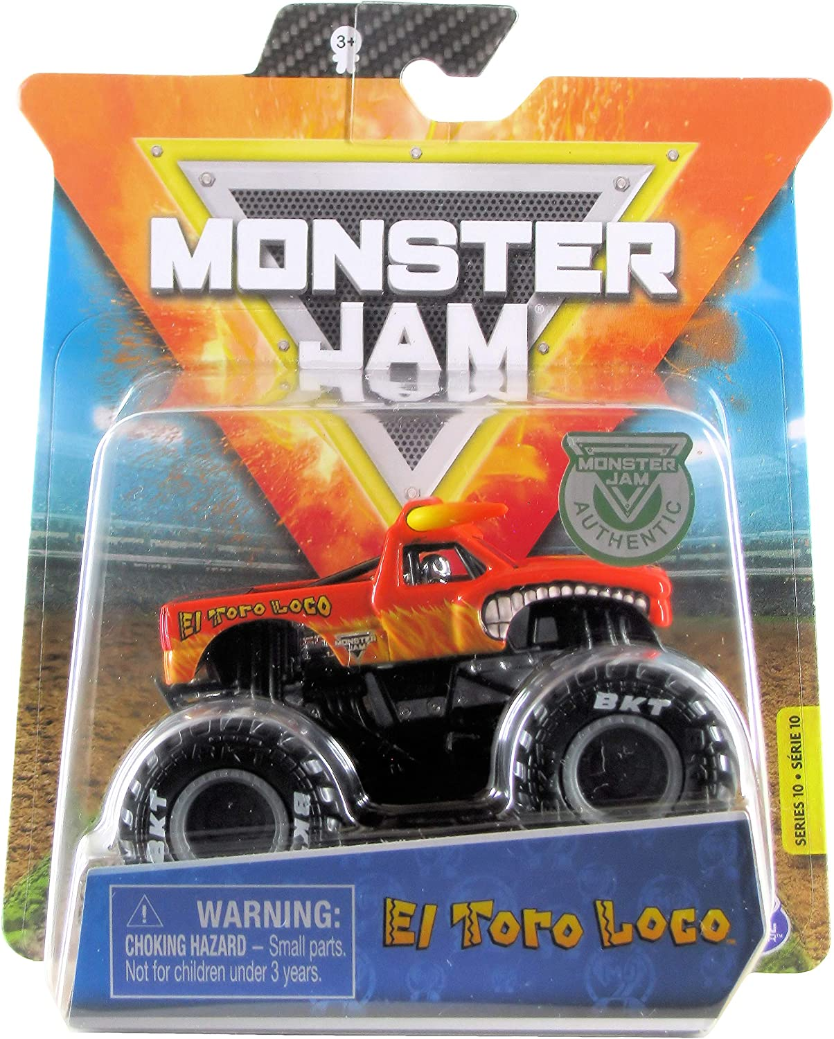 Amazon Com Monster Jam 2020 Spin Master 1 64 Diecast Monster Truck With Wristband Legacy Trucks El Toro Loco Orange Toys Games
