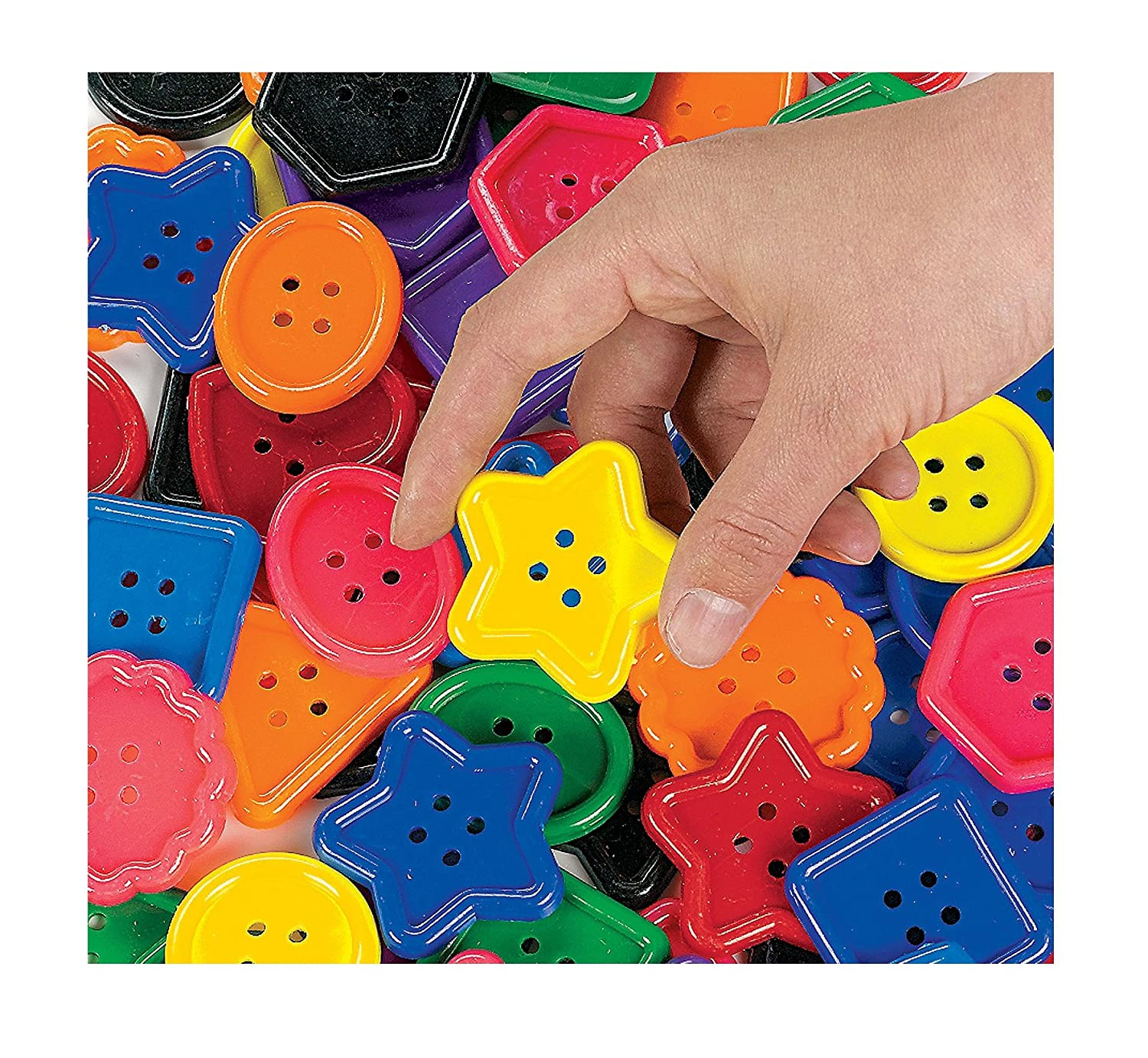 1 Lb of Great Big Buttons (94 Pcs) Really BIG - Art & Craft Supplies & Embellishments Fun Express IN-57/8500