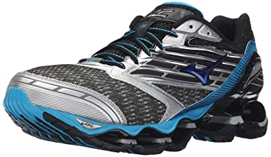 best loved 64a89 21fd0 Mizuno Men s Wave Prophecy 5 Running Shoe, Gunmetal Atomic Blue, ...