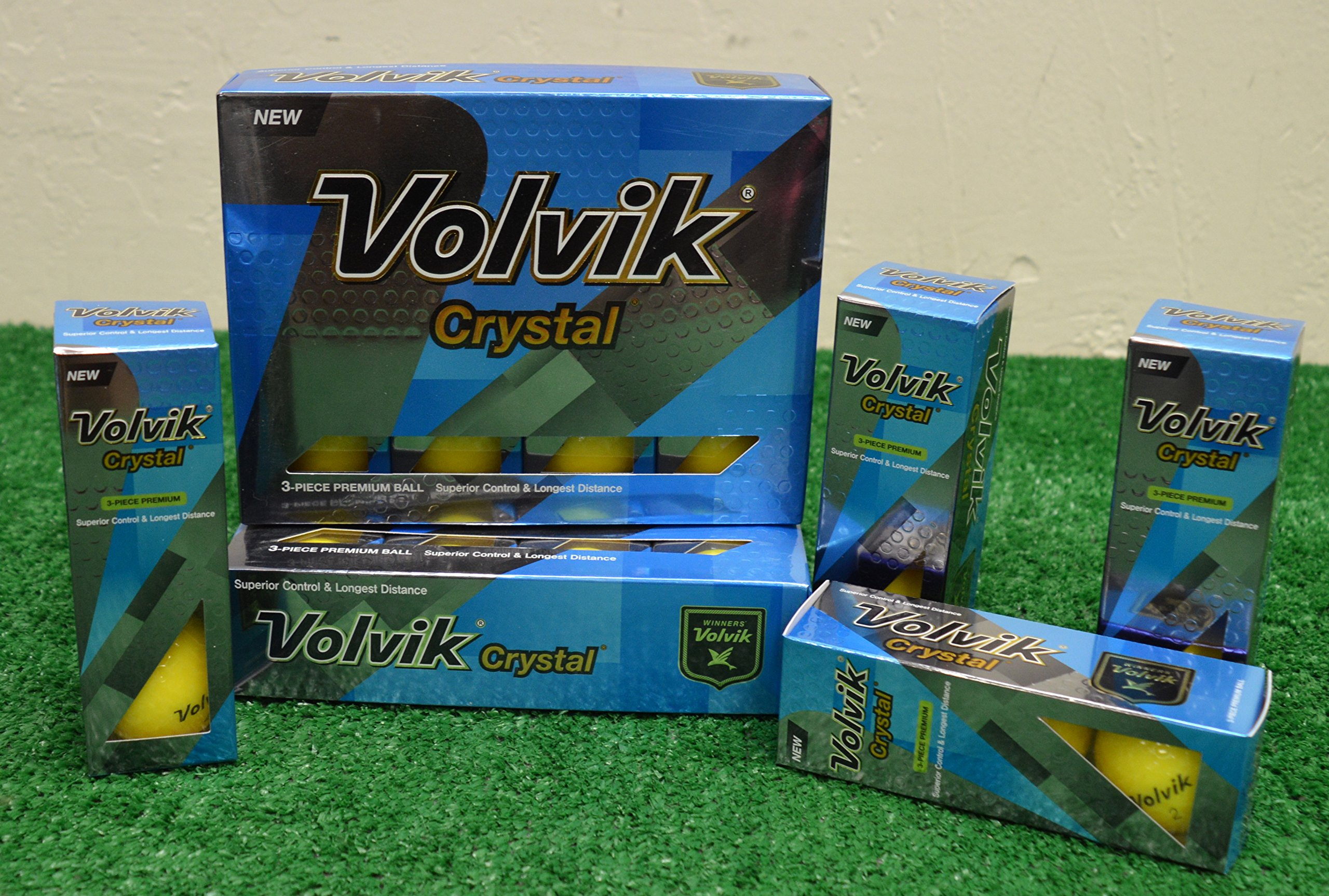 3 Dozen Volvik Crystal Yellow Golf Balls - New in Box