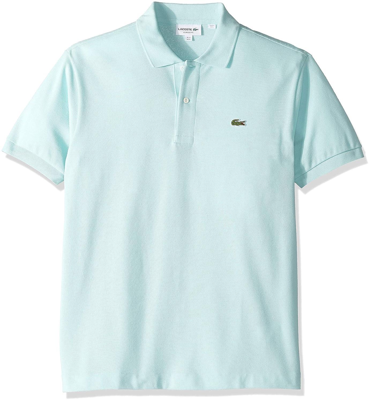 10d3f933e3 Lacoste Short Sleeve Pique L.12.12 Classic Fit Polo Shirt, L1212, Light  Aquarium Blue, X-Large