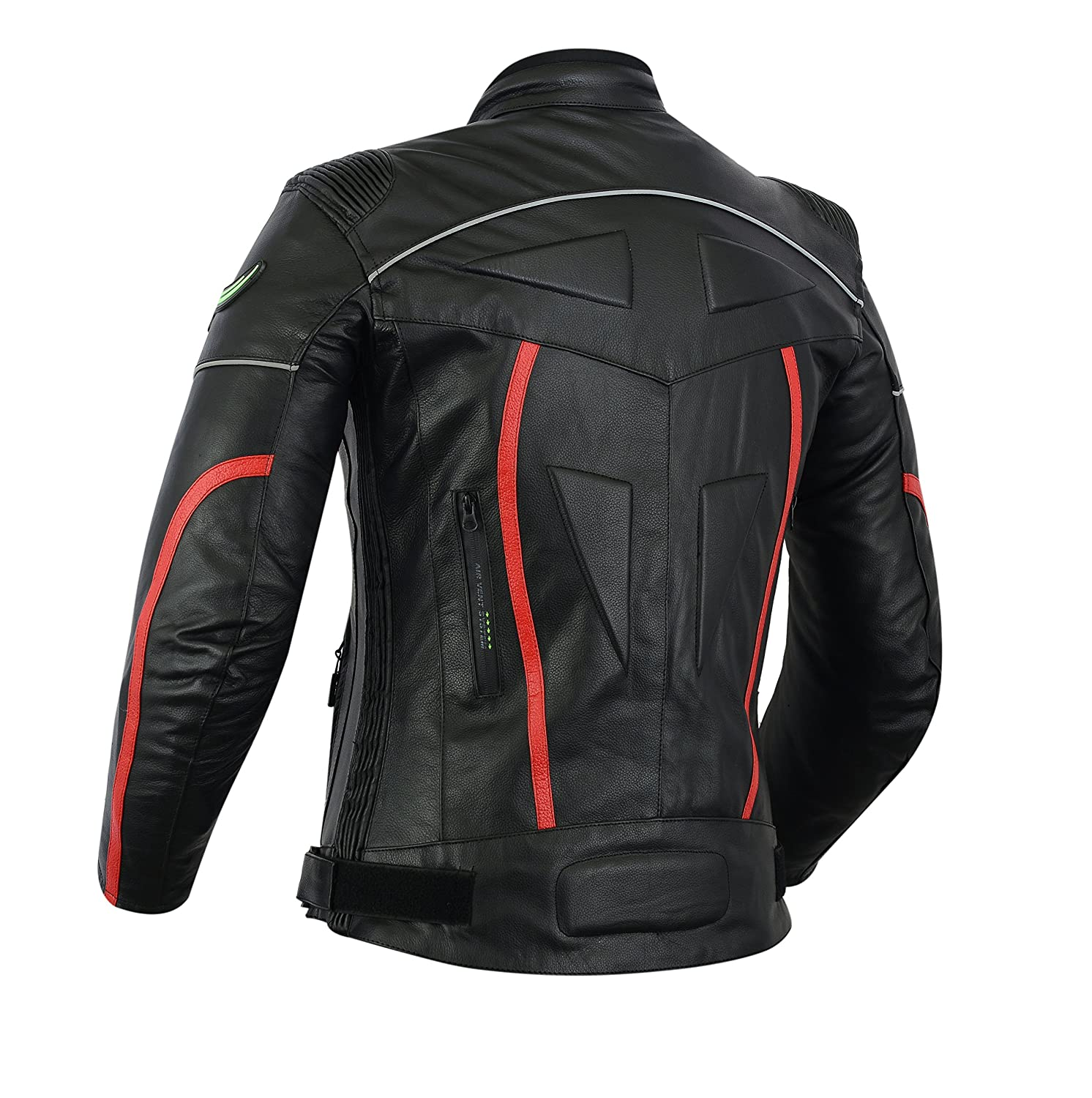 RIDEX Mens LJ2W Biker Motorbike Motorcycle Protection Leather Jacket