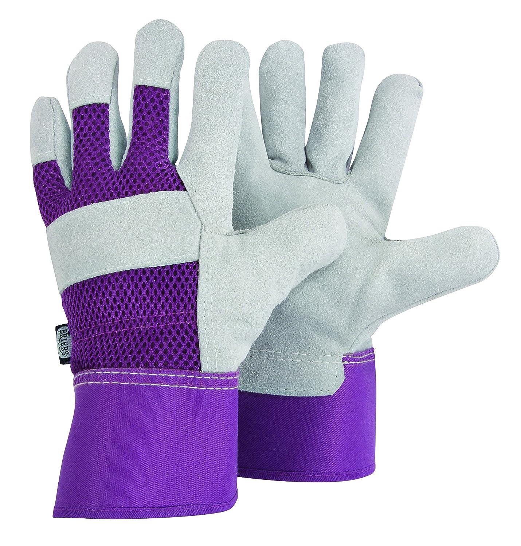 Ladies thermal leather gloves uk - Briers Medium Ladies Rigger Lavender