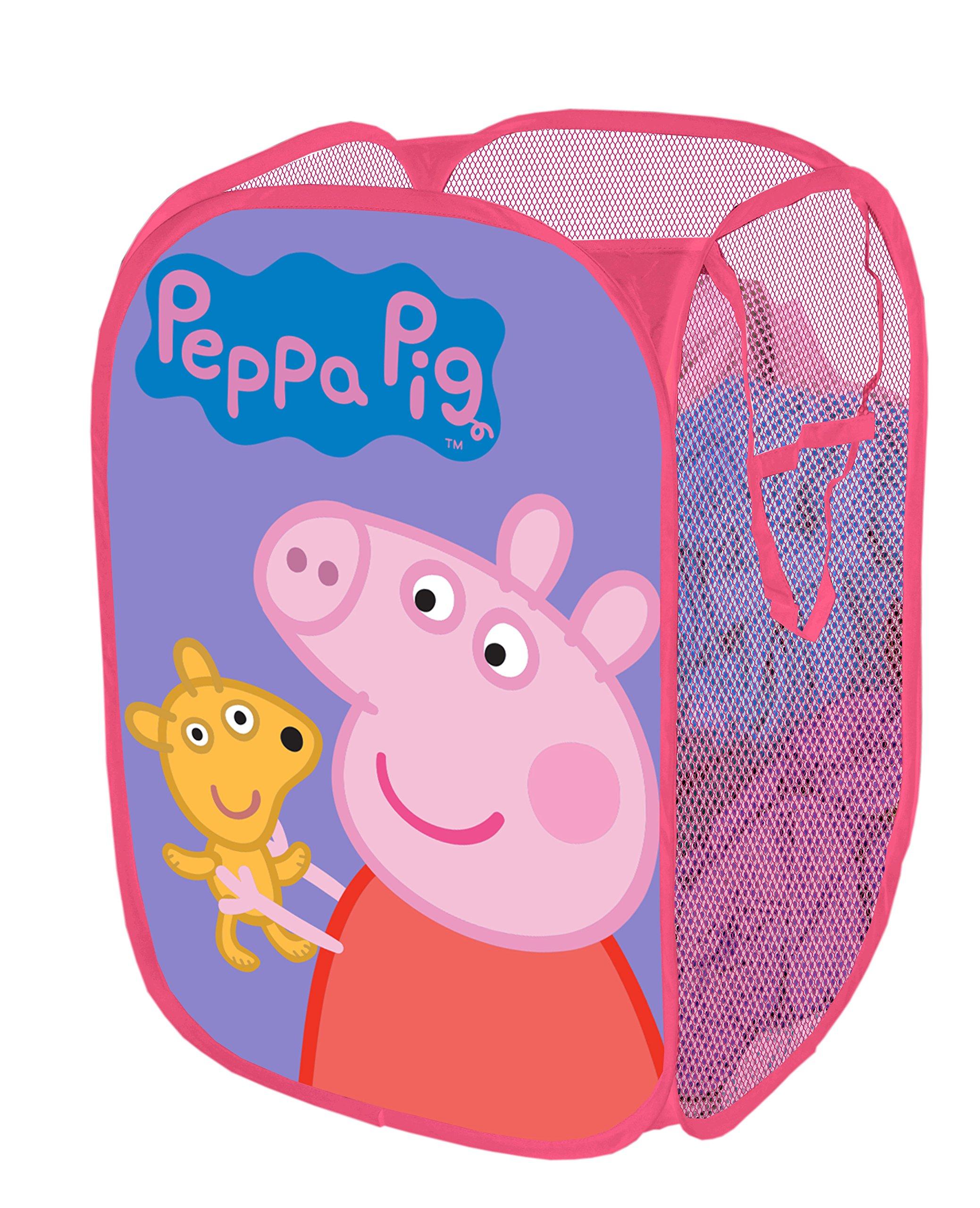 Peppa Pig Pop Up Hamper, 13.5 x 13.5 x 21.5
