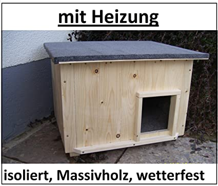 Gatos casa largo con calefacción para gatos cabaña de lanzamiento caja de perro aislado resistente a