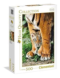 Clementoni 35046 - Puzzle Bengal Tiger Cub Between Its Mot