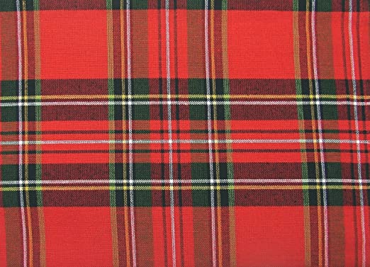 Christmas Tablescape Decor - Timely Tartan Red Plaid Christmas Placemat Set of 4