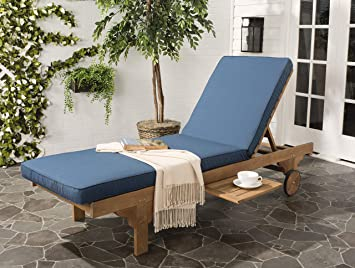 amazon com safavieh outdoor collection newport teak brown navy rh amazon com newport outdoor chair newport outdoor furniture cushions