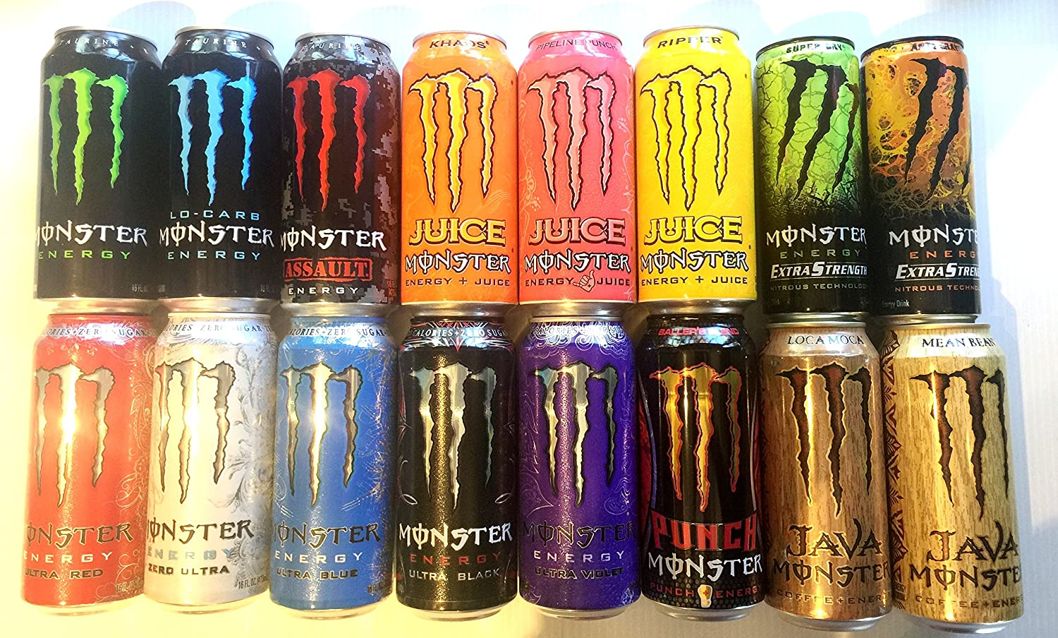 Amazon Com 16 Pack New Monster Energy Drink Variety Pack Health Personal Care